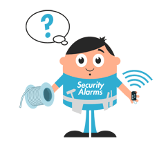 Wireless of hard-wired alarm